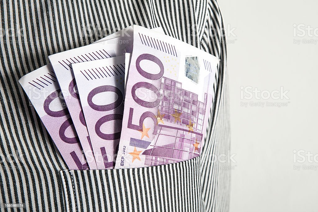 Five Hundred Euros royalty-free stock photo