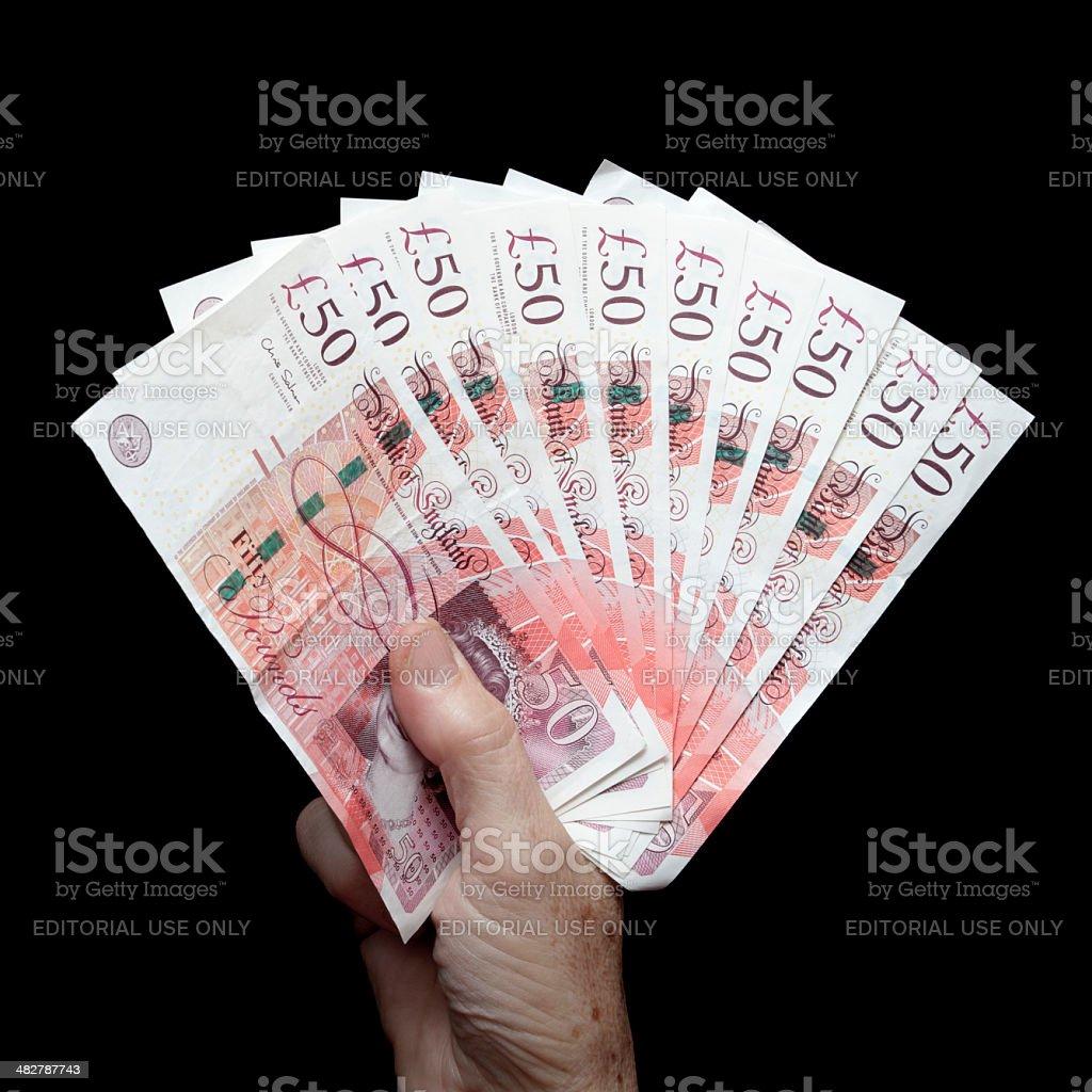 Billet de 500 livres de Notes de 50 livres sterling - Photo