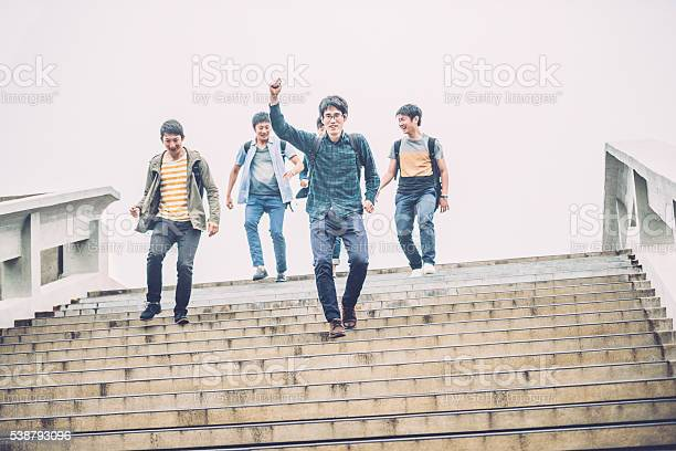Five japanese students descending staircase campus kyoto japan asia picture id538793096?b=1&k=6&m=538793096&s=612x612&h=hho9nn9gdi1pw9f f3k5d9tluauseelyyrralerplpe=