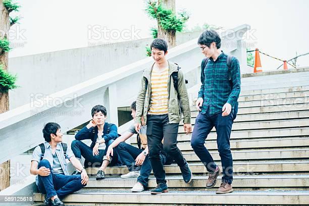 Five japanese students on staircase campus kyoto japan asia picture id589125618?b=1&k=6&m=589125618&s=612x612&h=kqa9rtktn4lorvqqk3sig lhq8nbi h4mlc99xmwal4=