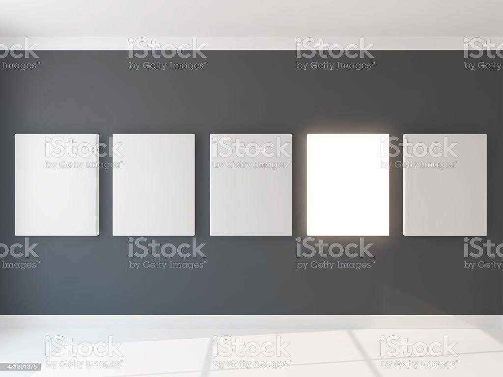 five light canvas stock photo