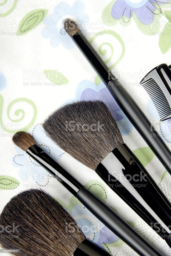 Five make-up tools royalty-free stock photo