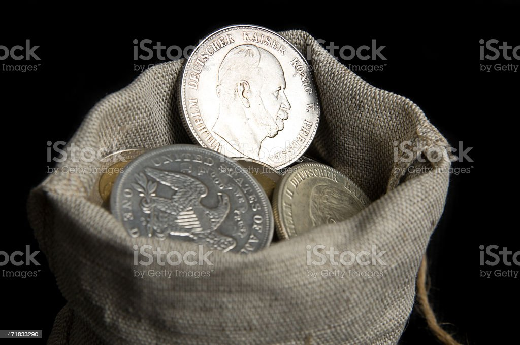 Five mark of German Reich stock photo