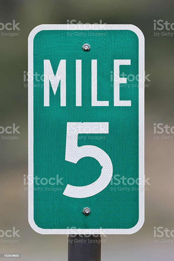 Five Mile Marker stock photo