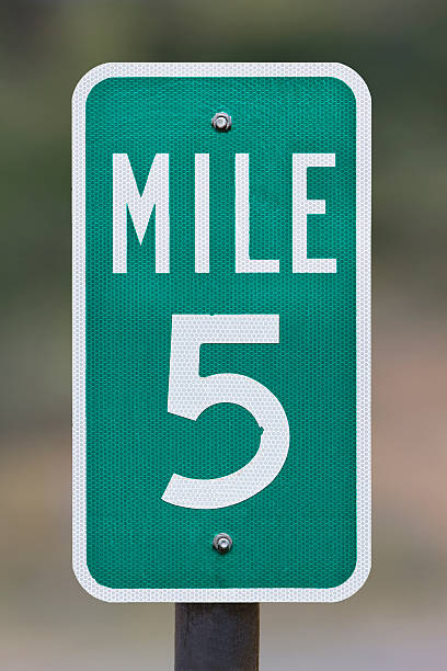 Five Mile Marker stock photo