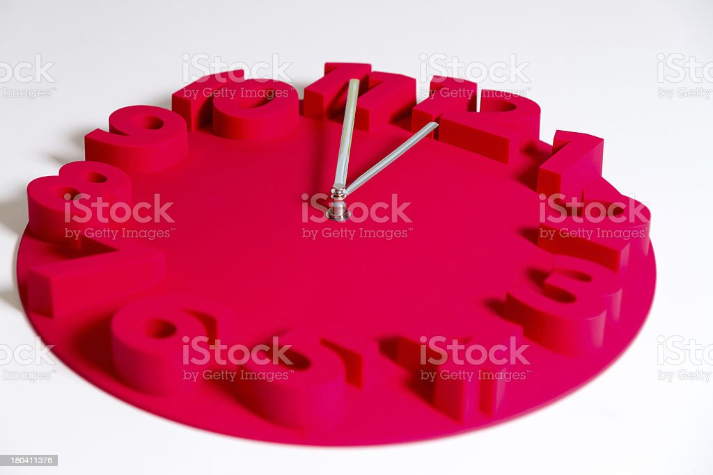Five minutes to midnight clock royalty-free stock photo