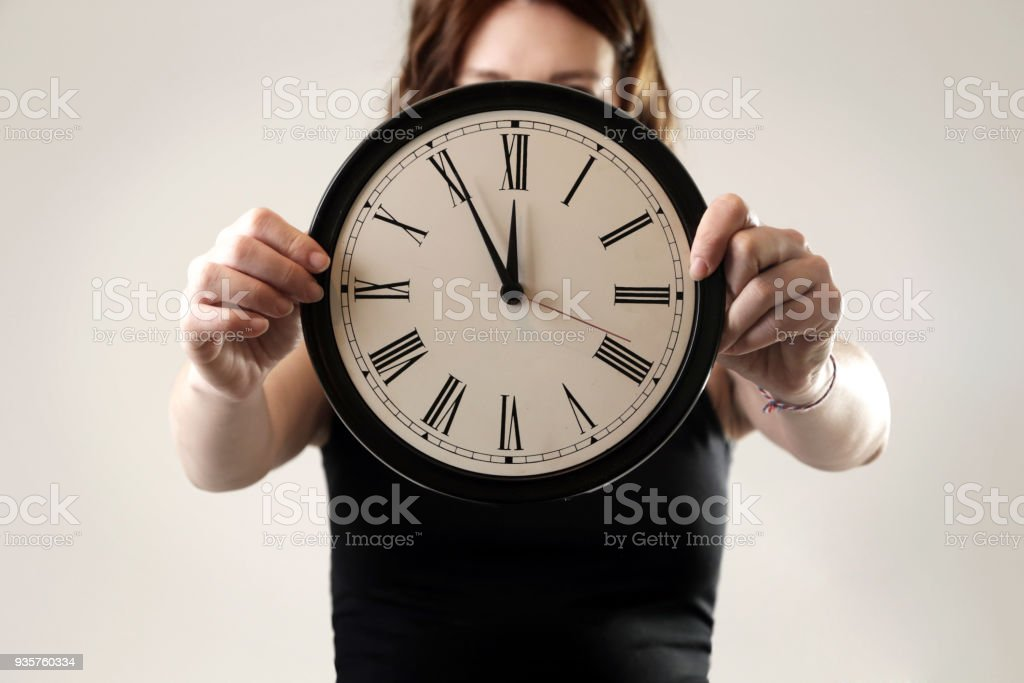 Five minutes to twelve o'clock