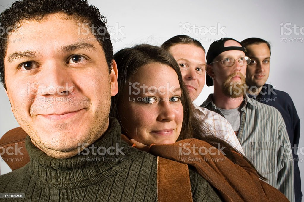 Five Musicians royalty-free stock photo