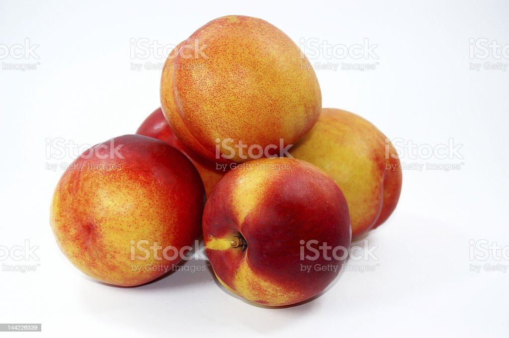 Five nectarines royalty-free stock photo