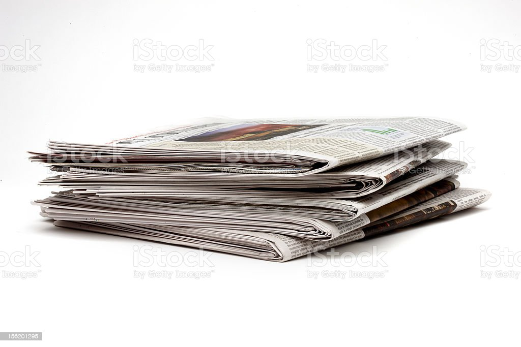 Five Newspapers royalty-free stock photo