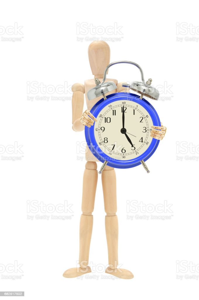 Five O'Clock Alarm Clock royalty-free stock photo