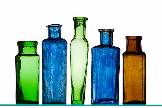 Five Old Bottles stock photo