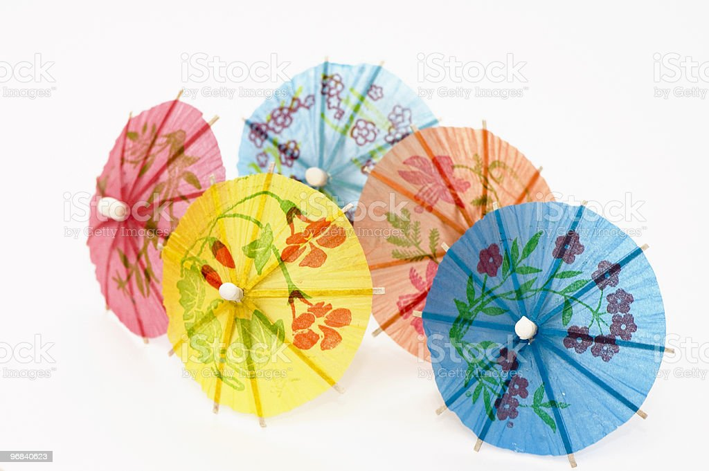 Five Party Umbrellas royalty-free stock photo