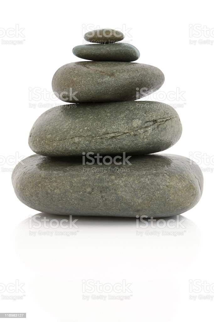 Five pebbles #2 royalty-free stock photo