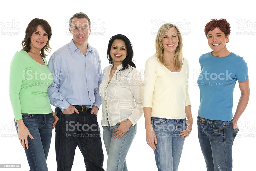 Five People royalty-free stock photo