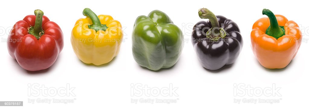 Five Peppers royalty-free stock photo