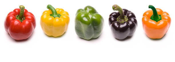 Five Peppers stock photo
