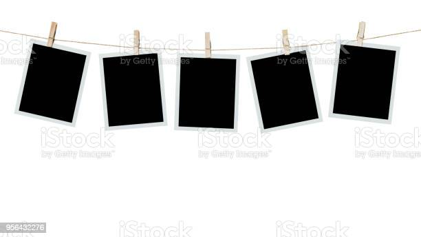 Five photo frame blank hanging on isolated white with clipping path picture id956432276?b=1&k=6&m=956432276&s=612x612&h=mlduts nclieyocdal3ceg mg7dkisat cb0pu3ljum=