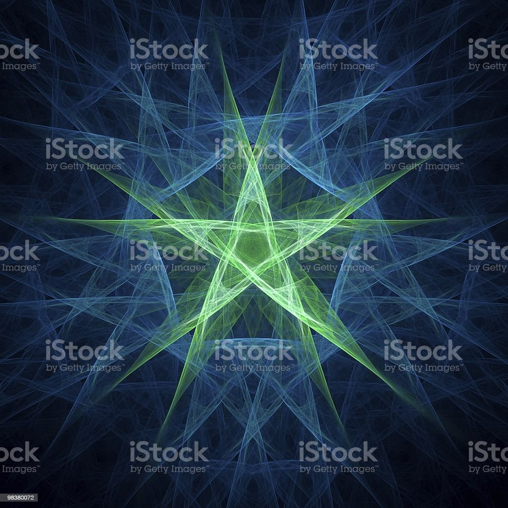 Five Point Star royalty-free stock photo
