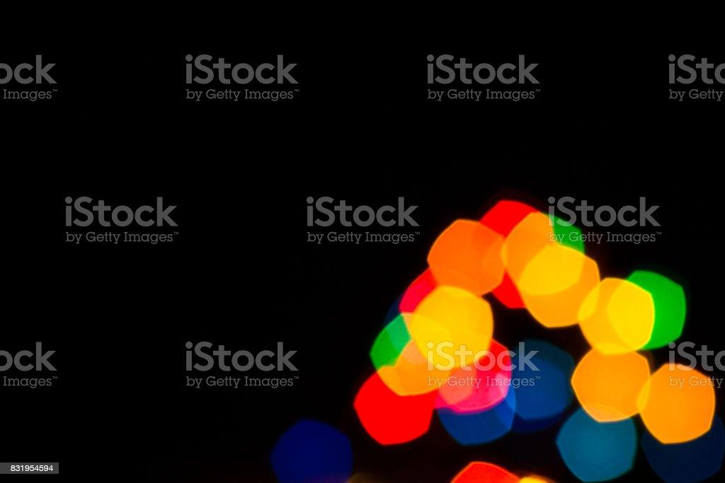 Cinco pontas guirlandas festivas luzes - foto de acervo