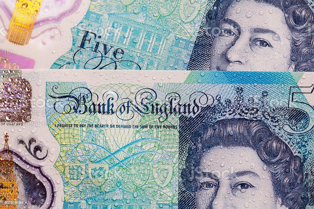 Five Pound Note stock photo