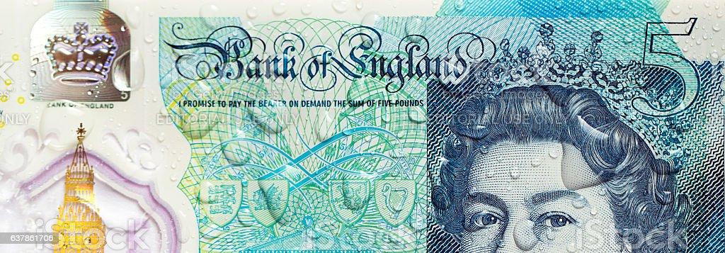 Five Pound Note - UK stock photo