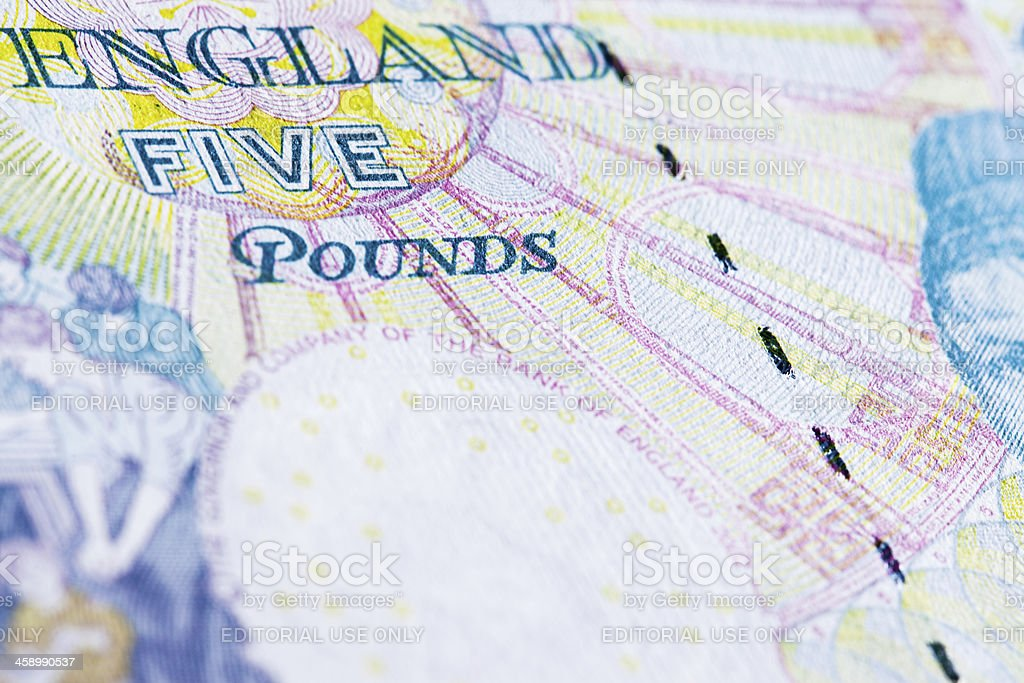 Five pounds royalty-free stock photo