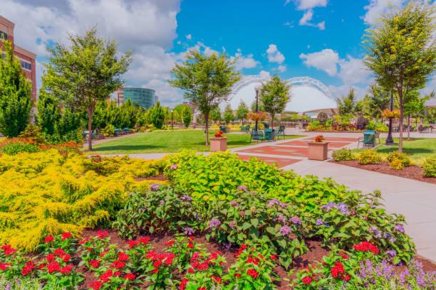 Five Rivers Metropark in downtown Dayton, Ohio (P) stock photo