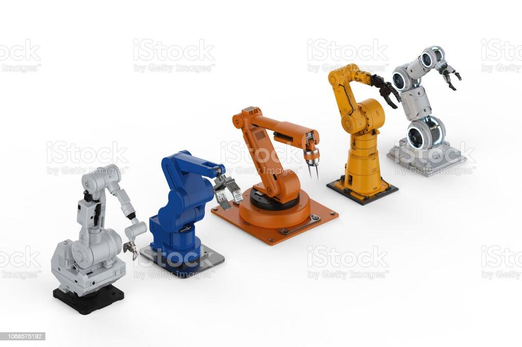 5 로봇 팔 스톡 사진