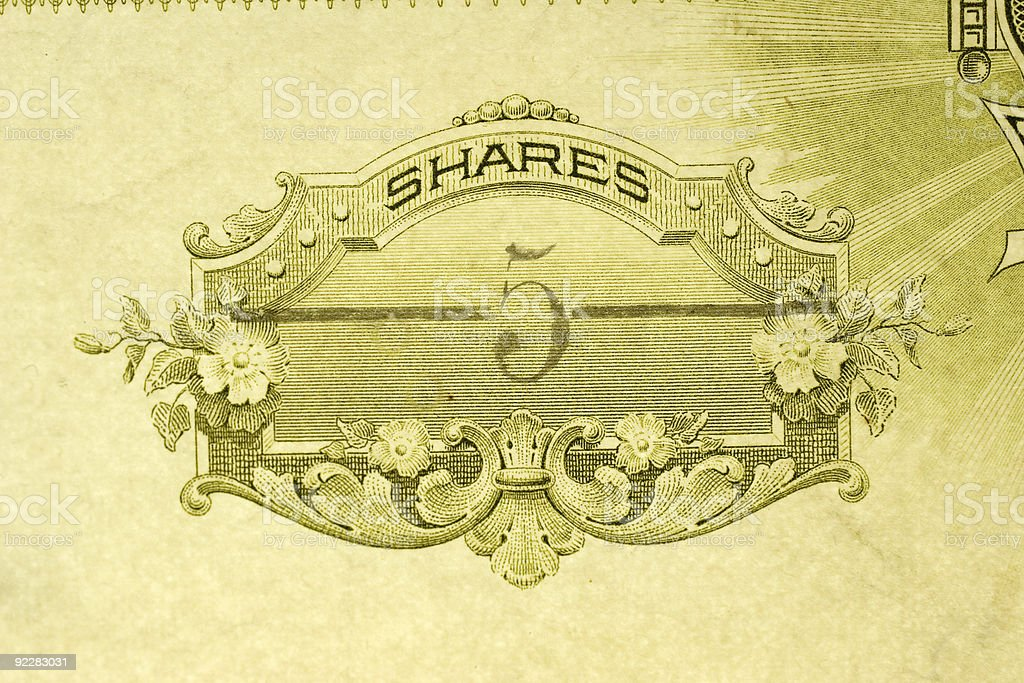 Five Shares stock photo