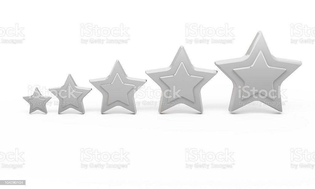 Five silver stars for ranking royalty-free stock photo