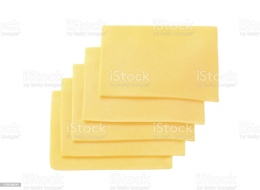 five slices of cheese royalty-free stock photo