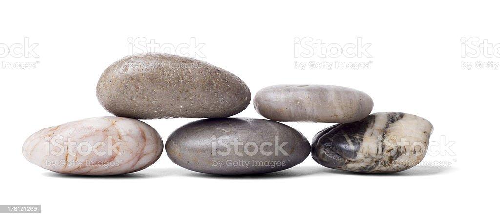 Five Smooth Stones stock photo