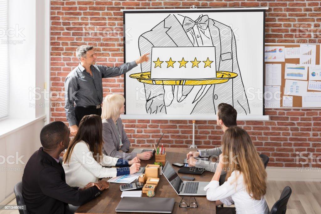 Fünf Sterne Gastfreundschaft Service Präsentation - Lizenzfrei Bewertung Stock-Foto