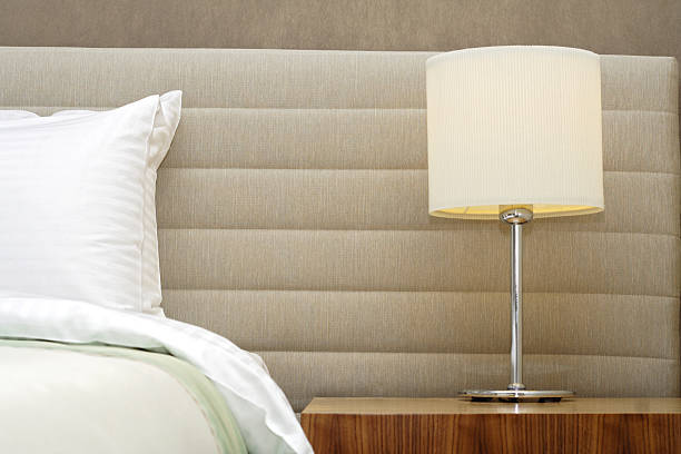 five star hotel room stock photo