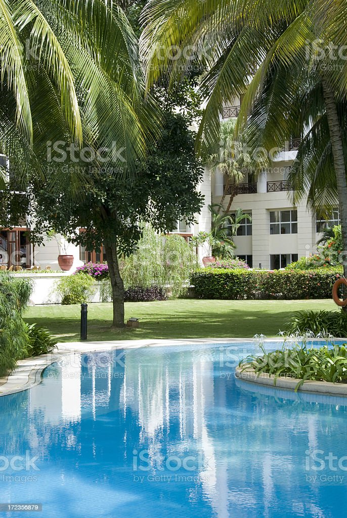 Five star hotel swimming pool royalty-free stock photo