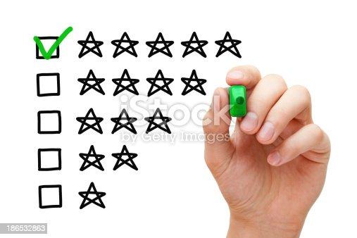 istock Five Star Rating 186532863