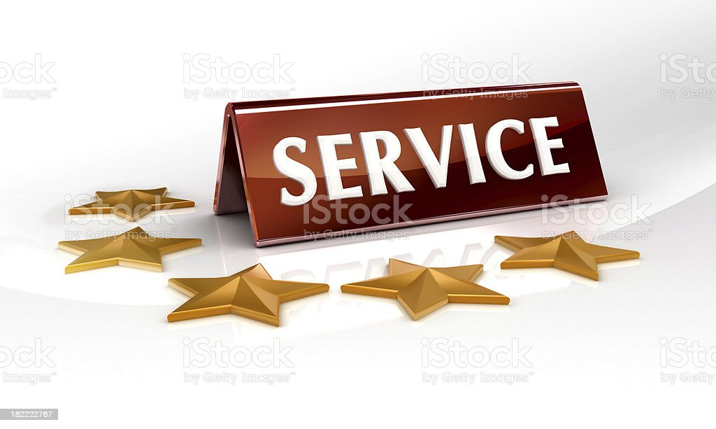 five star service royalty-free stock photo