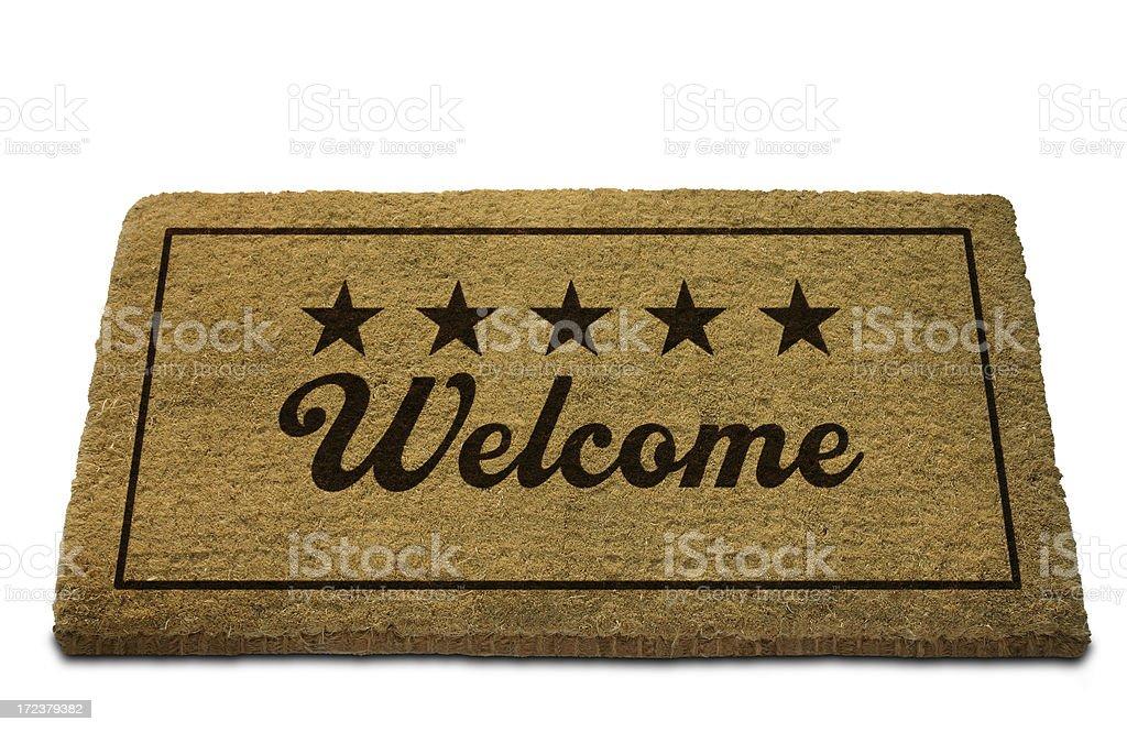 Five Star Welcome Doormat stock photo