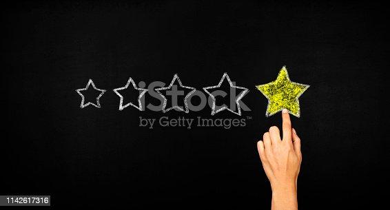 istock Five stars concept 1142617316