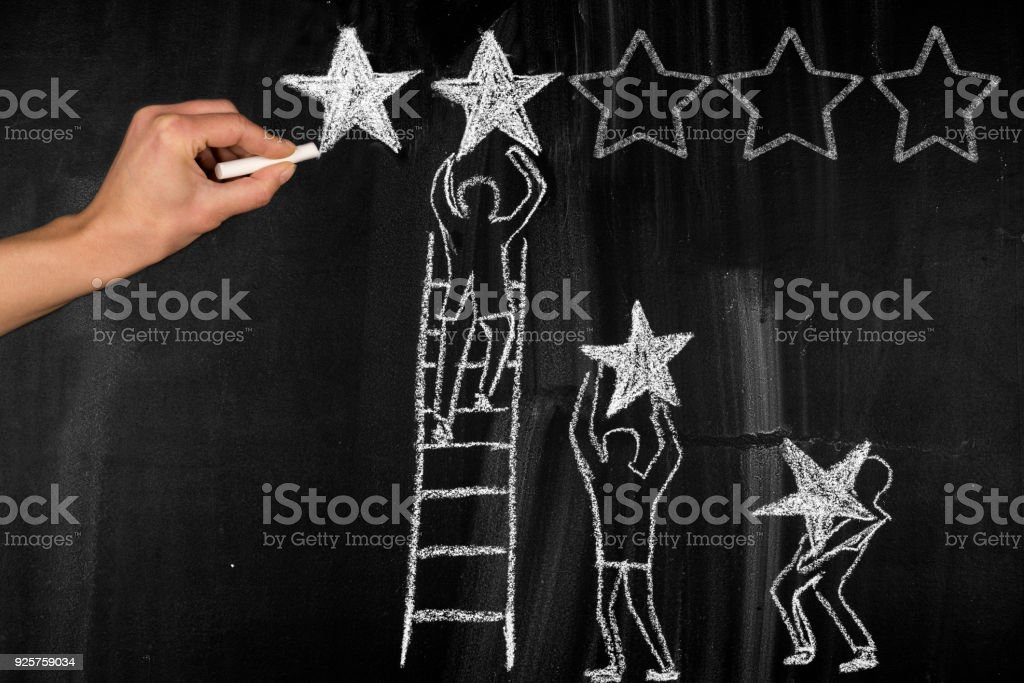 Five Stars concept stock photo