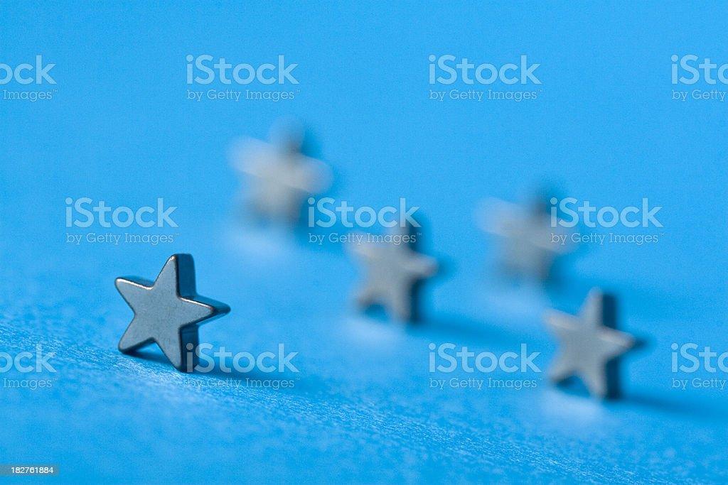 five stars macro royalty-free stock photo