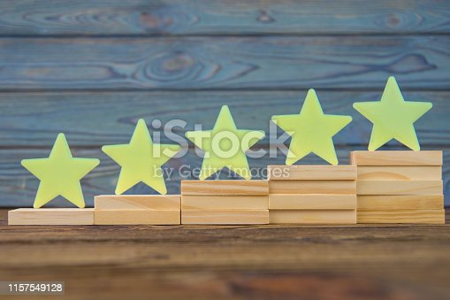 istock five stars on the ladder upgrade rating. 1157549128
