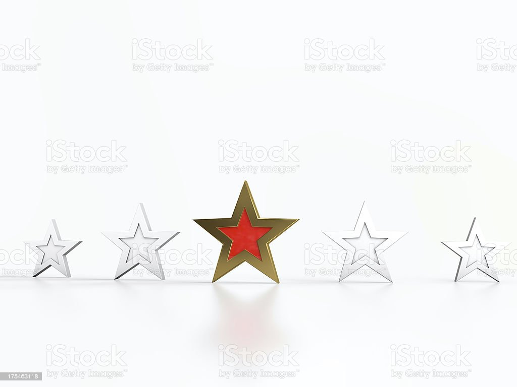 Five stars royalty-free stock photo