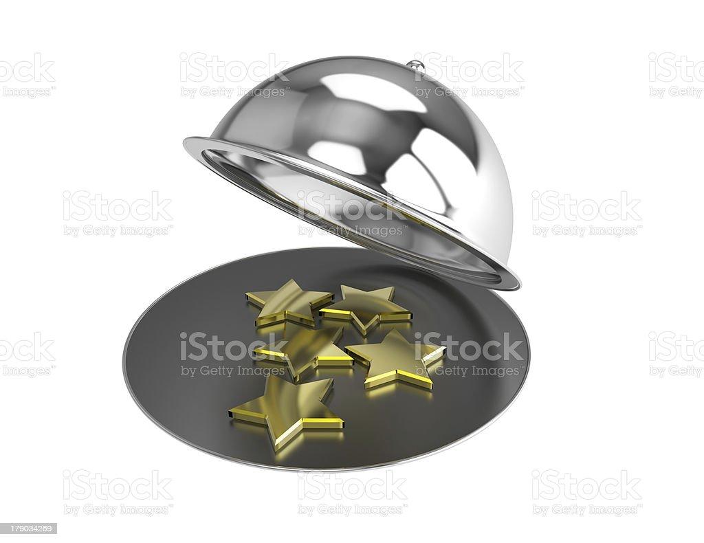 Five Stars royalty-free stock photo
