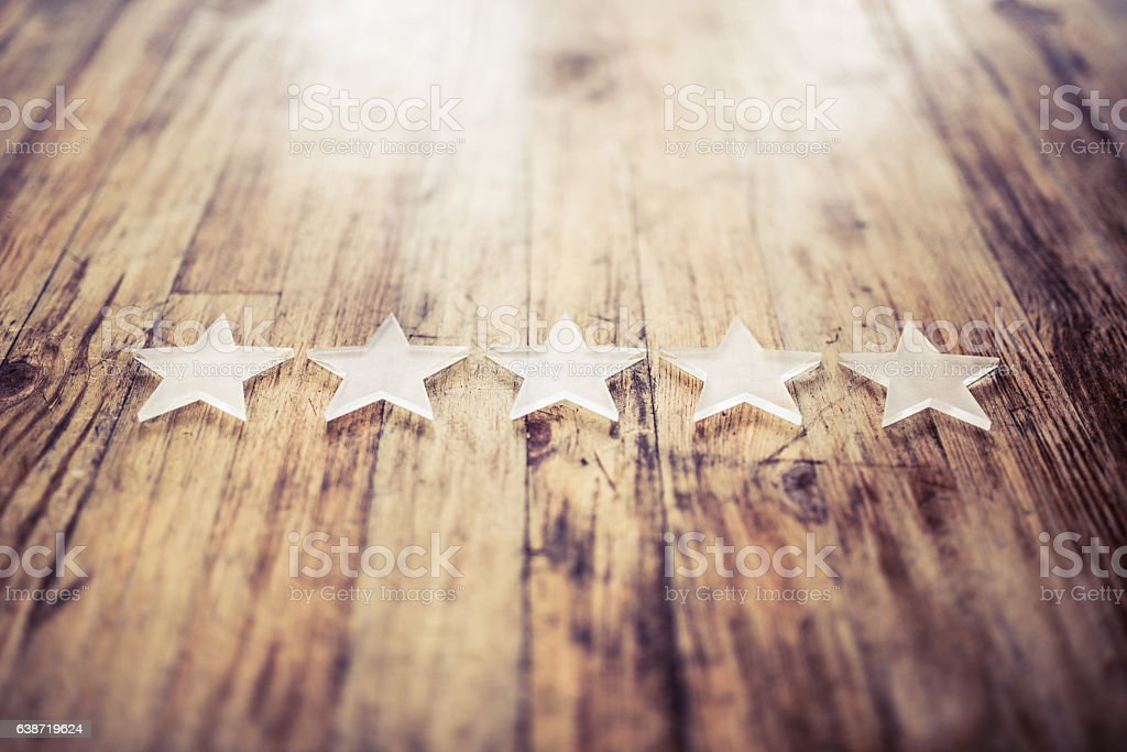 five stars rating - foto de stock