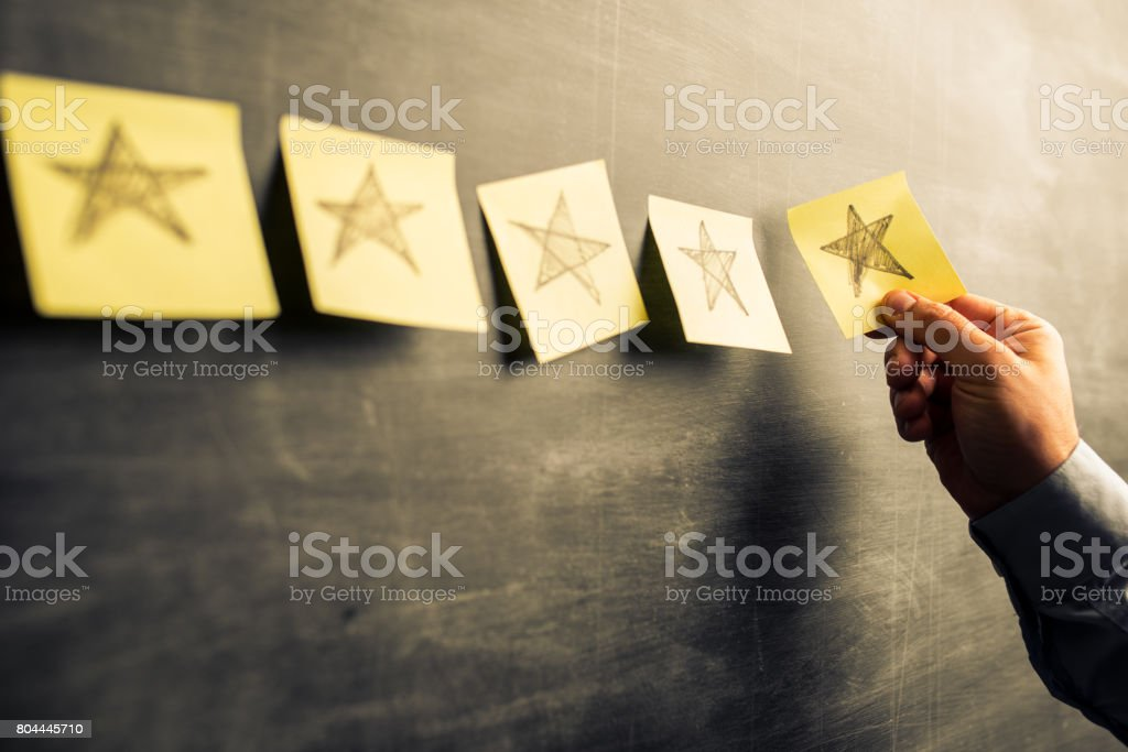 Five stars rating stock photo