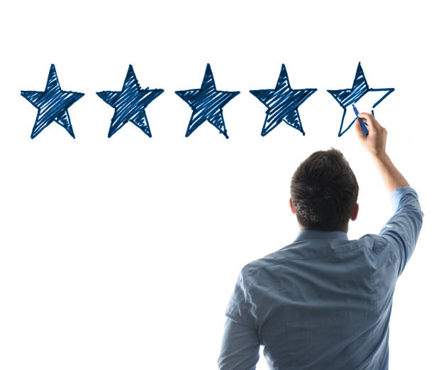 five stars rating - five objects stock pictures, royalty-free photos & images
