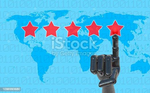 istock Five Stars Rating, positive feedback 1096990680