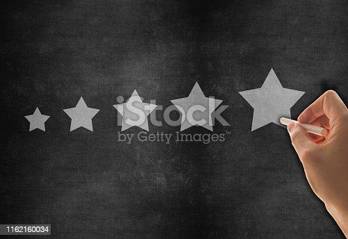 istock Five Stars Rating, positive feedback 1162160034